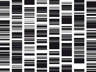 A barcode representation of the artist