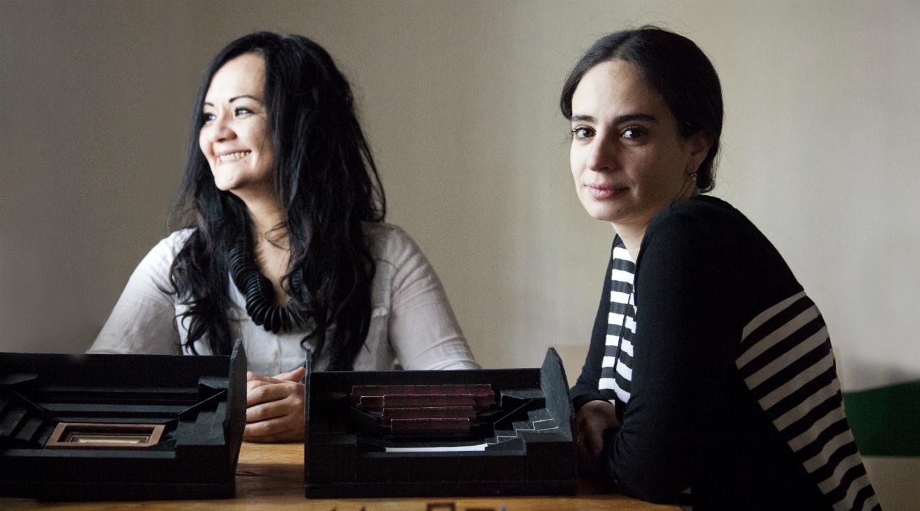 Auda Caraza y Atenea Chávez