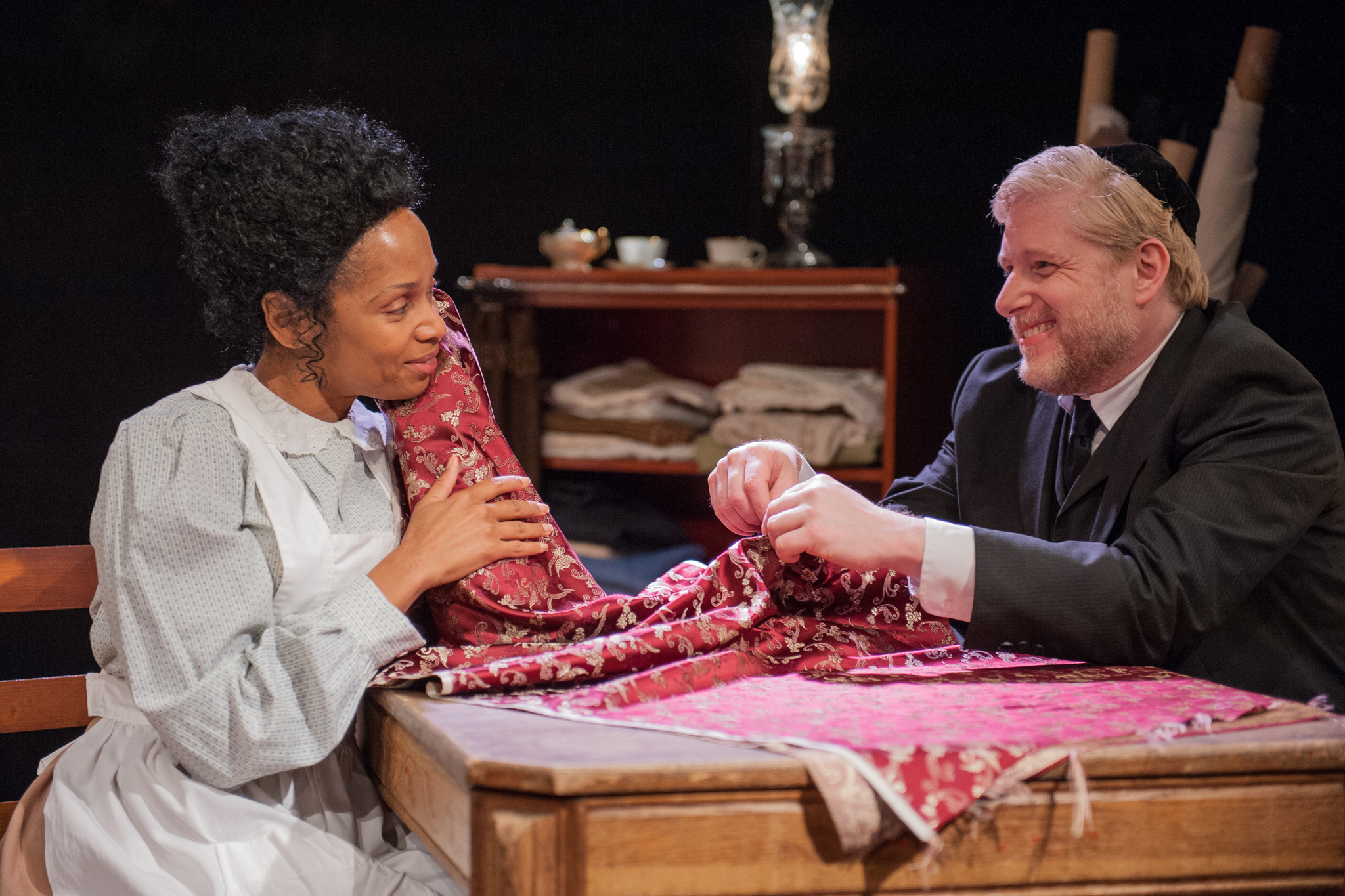Kelly Owens and Eustace Allen in Intimate Apparel at Eclipse Theatre Company