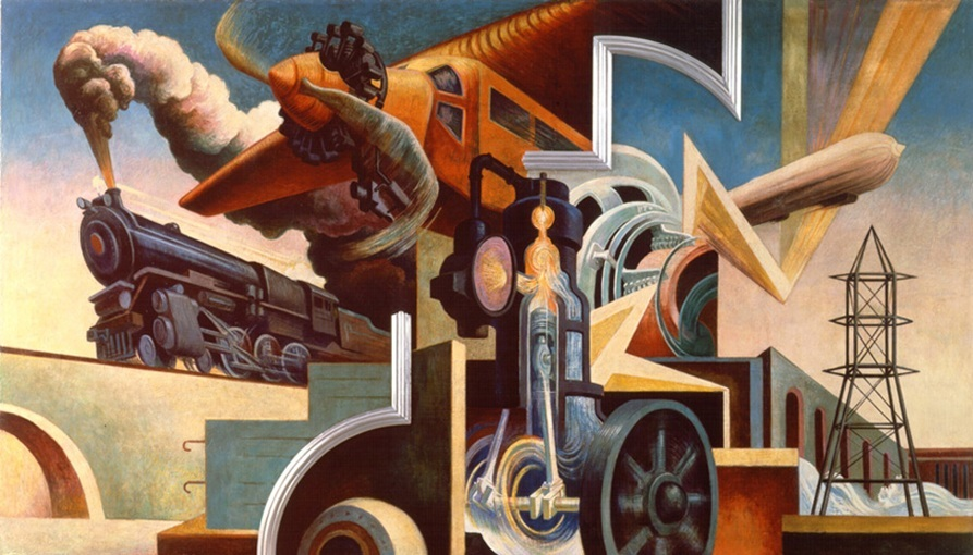 """Thomas Hart Benton's America Today Mural Rediscovered"""