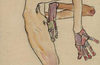 Egon Schiele (1890-1918) ('Erwin Dominik Osen, Nude with Crossed Arms', 1910)