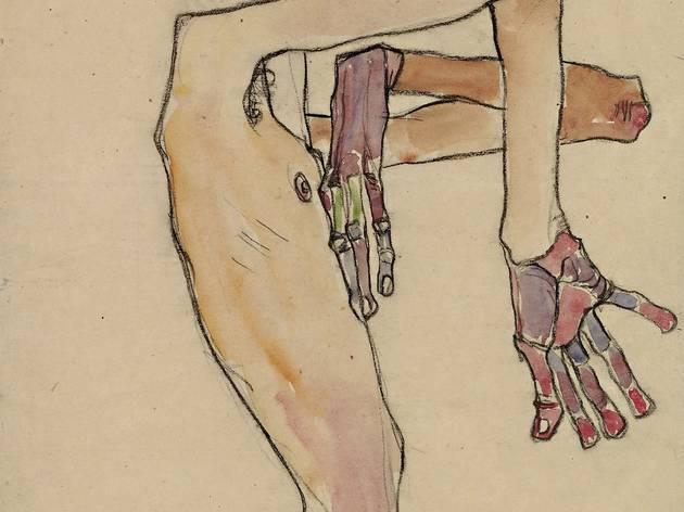 Egon Schiele (1890-1918) ('Erwin Dominik Osen, Nude with Crossed Arms', 1910)