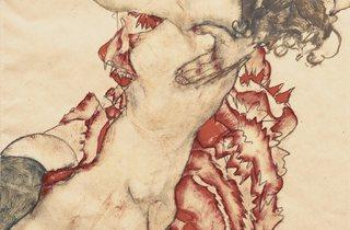 Egon Schiele (1890-1918) ('Two Girls Embracing (Friends)', 1915)