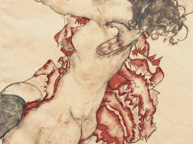 Egon Schiele (1890-1918) ('Two Girls Embracing (Friends)', 1915)