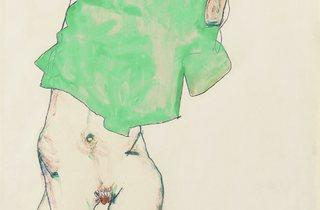 Egon Schiele (1890-1918) ('Before the Mirror', 1913)