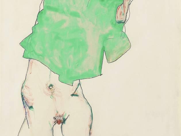Egon Schiele (1890-1918) ('Before the Mirror', 1913)