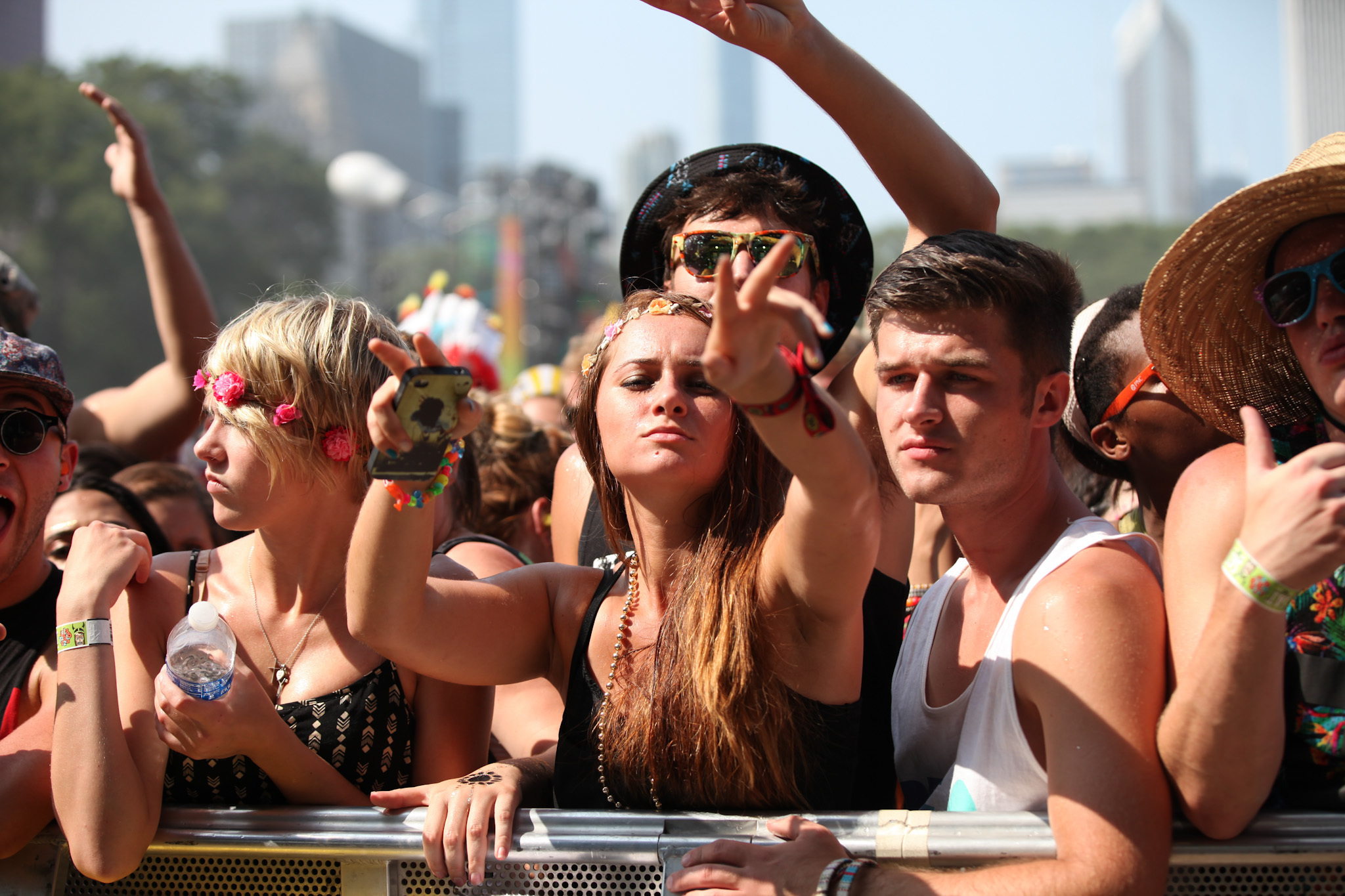 Saturday faces in the crowd