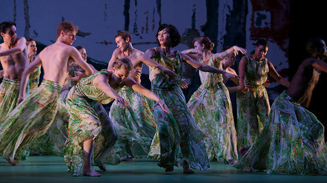 Maile Okamura performs with Mark Morris Dance Group