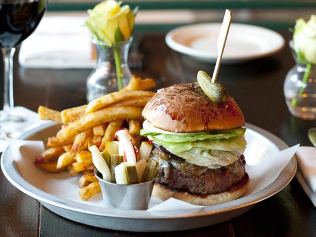 Whitehall burger at Whitehall