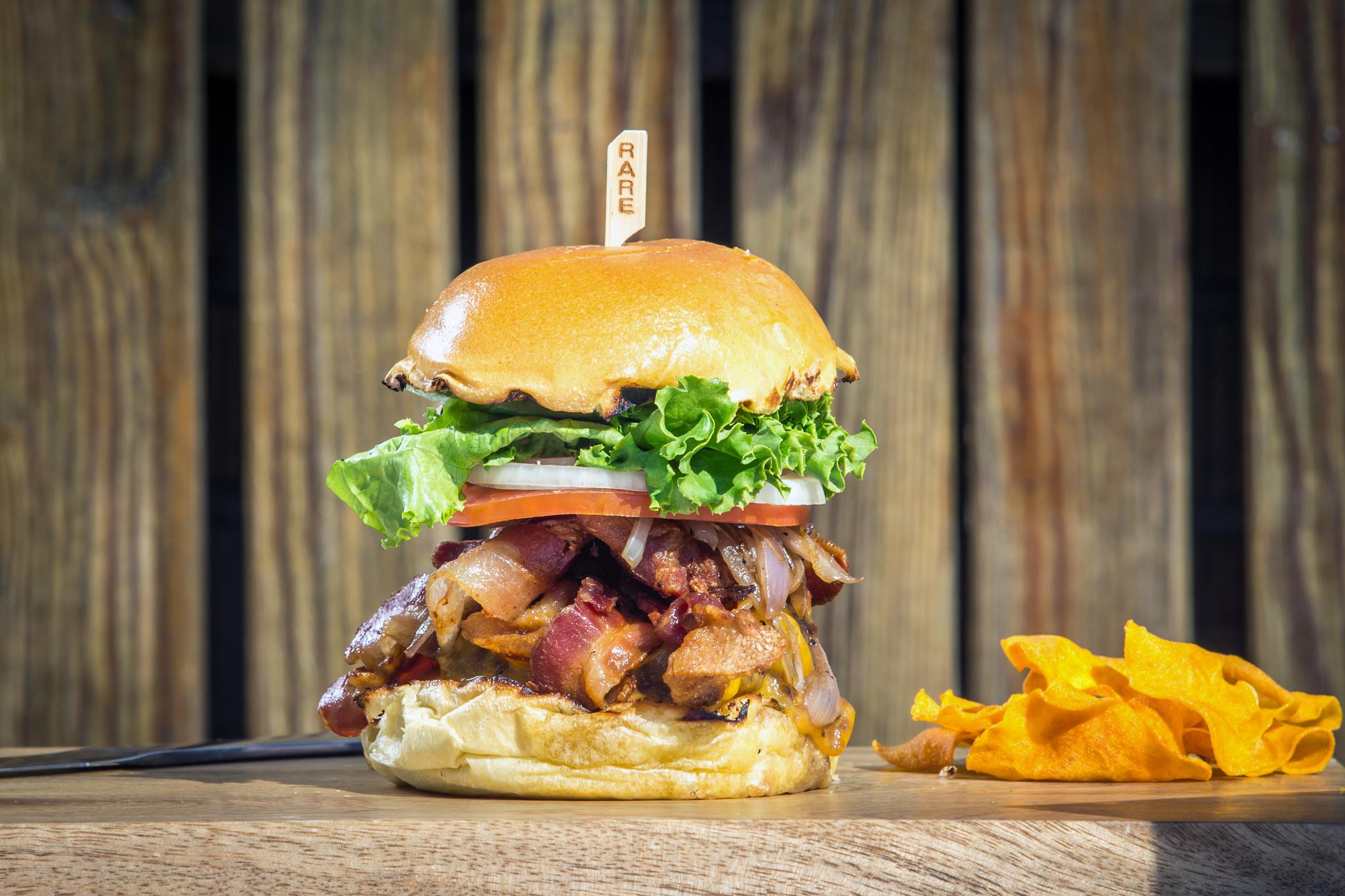 M&M burger at Rare Bar & Grill