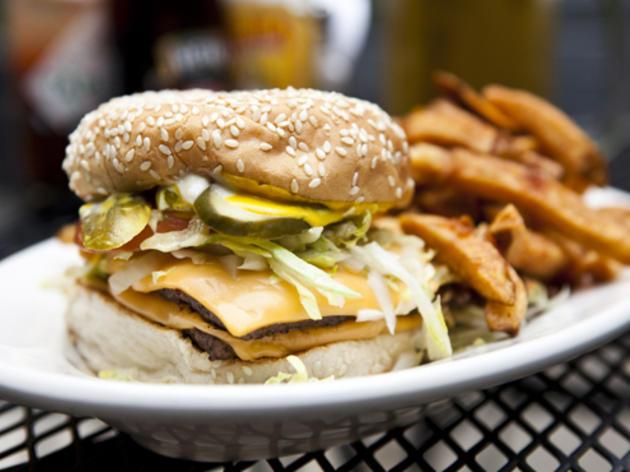 Burger at Dram Shop