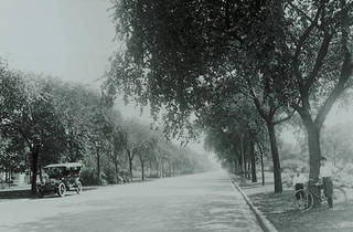 A historic image of Logan Square's boulevards