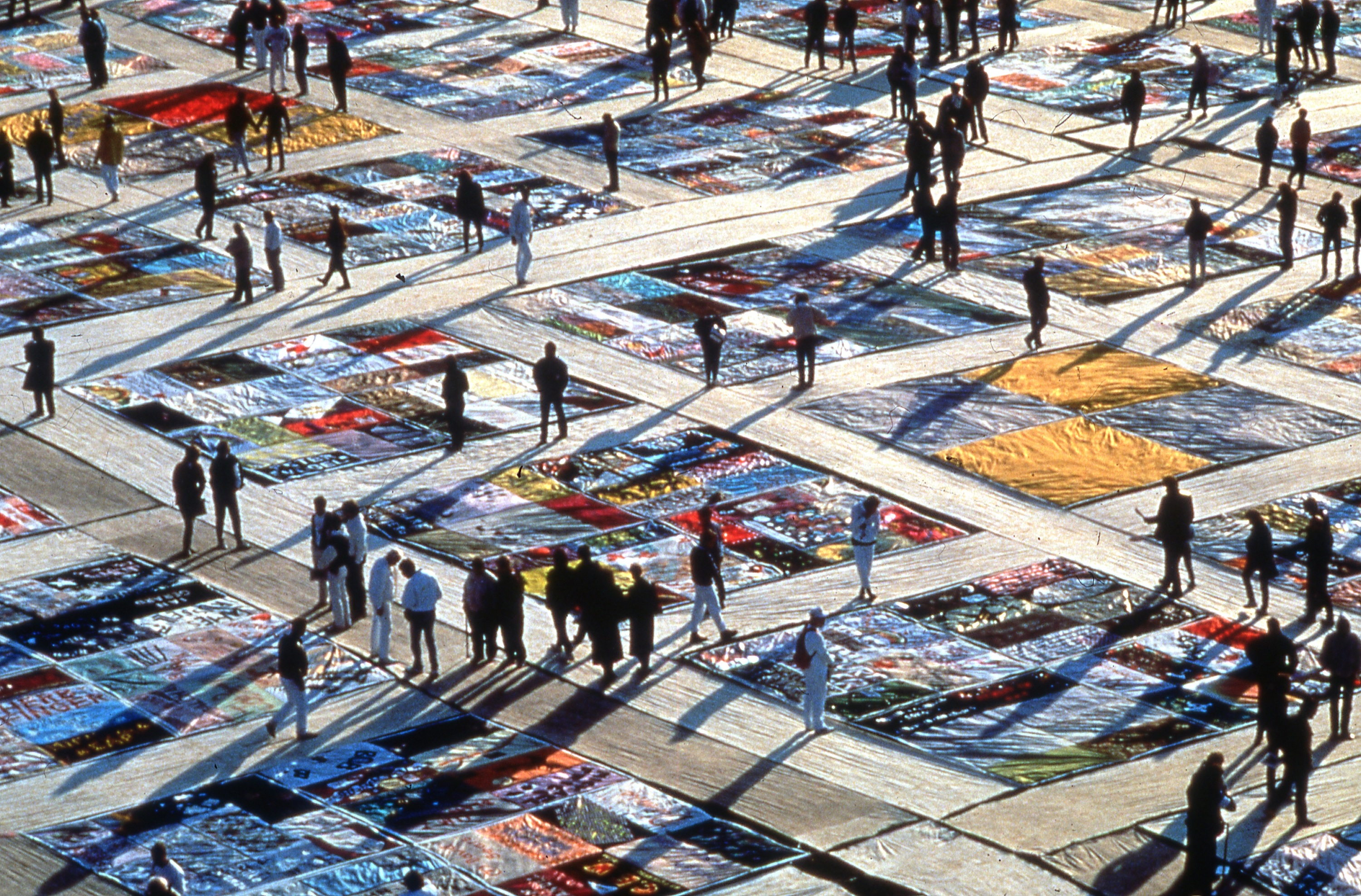 Kiehl's brings the AIDS Memorial Quilt to Governor's Island today