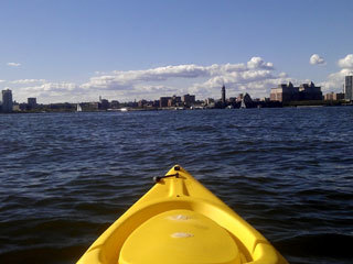 Kayak around NYC's waterways