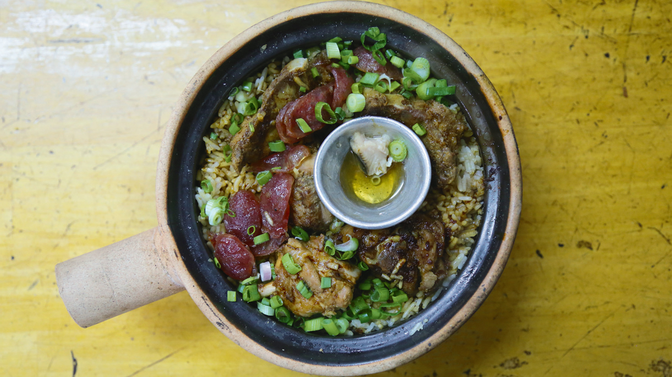 claypot chicken rice, pudu