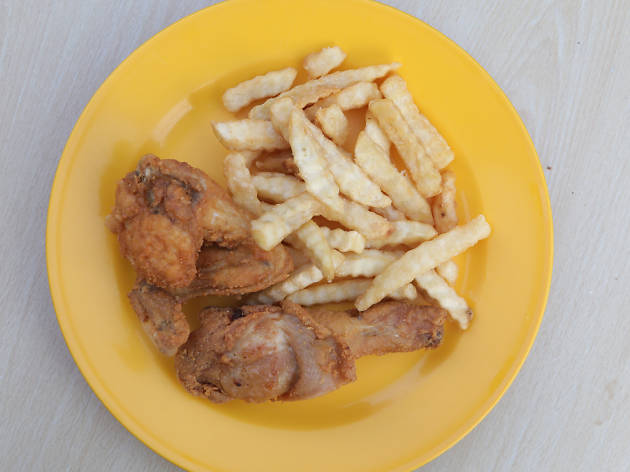 fried chicken, pudu wai sek kai