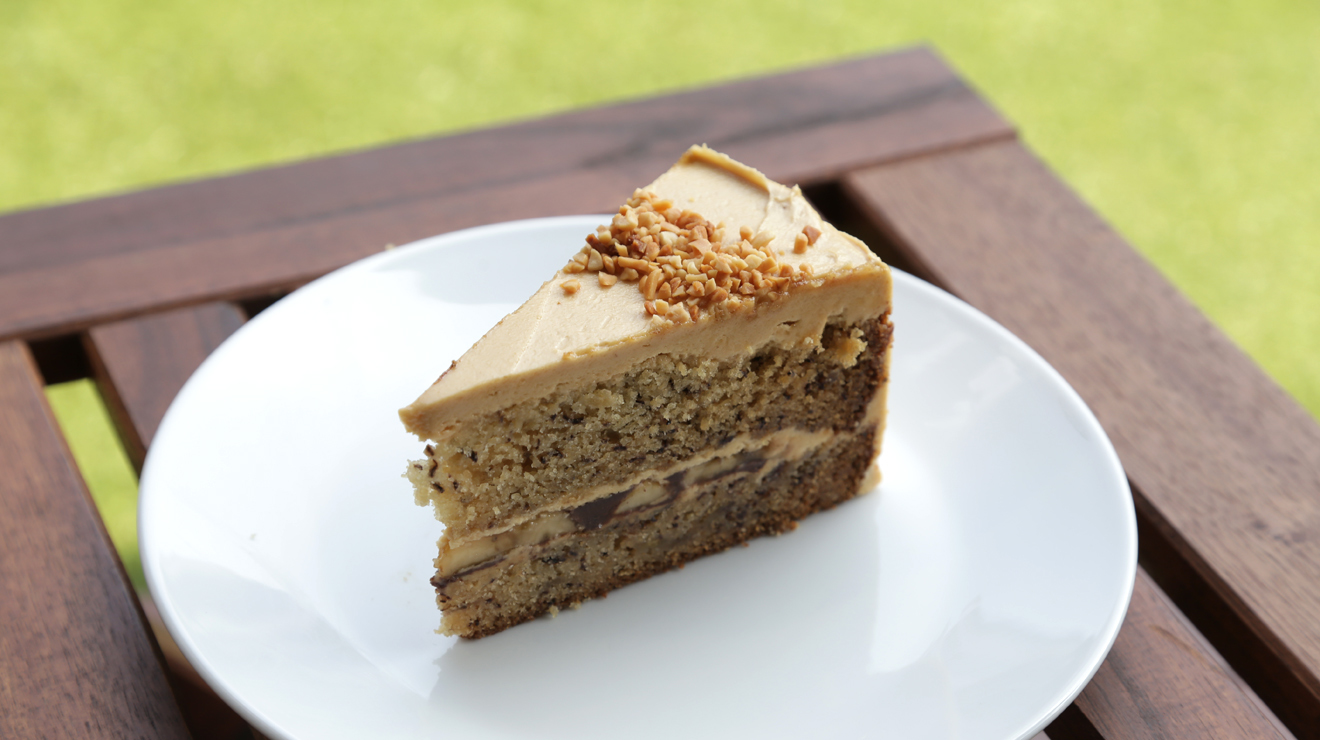 The King (chocolate, peanut butter and banana cake) at VCR