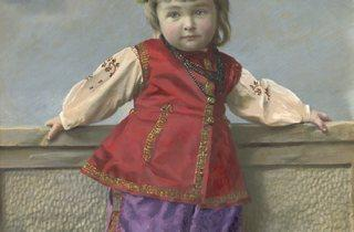 Yelena Mrozovskaya ('Portrait of girl in Little Russia costume. Saint Petersburg', 1900s)