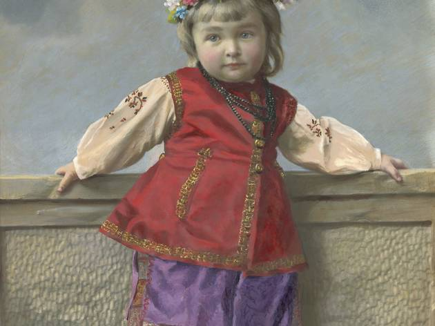 Yelena Mrozovskaya ('Portrait of girl in Little Russia costume. Saint Petersburg', 1900s)