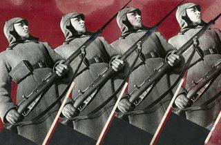 Varvara Stepanova ('Red Army Men', 1930)