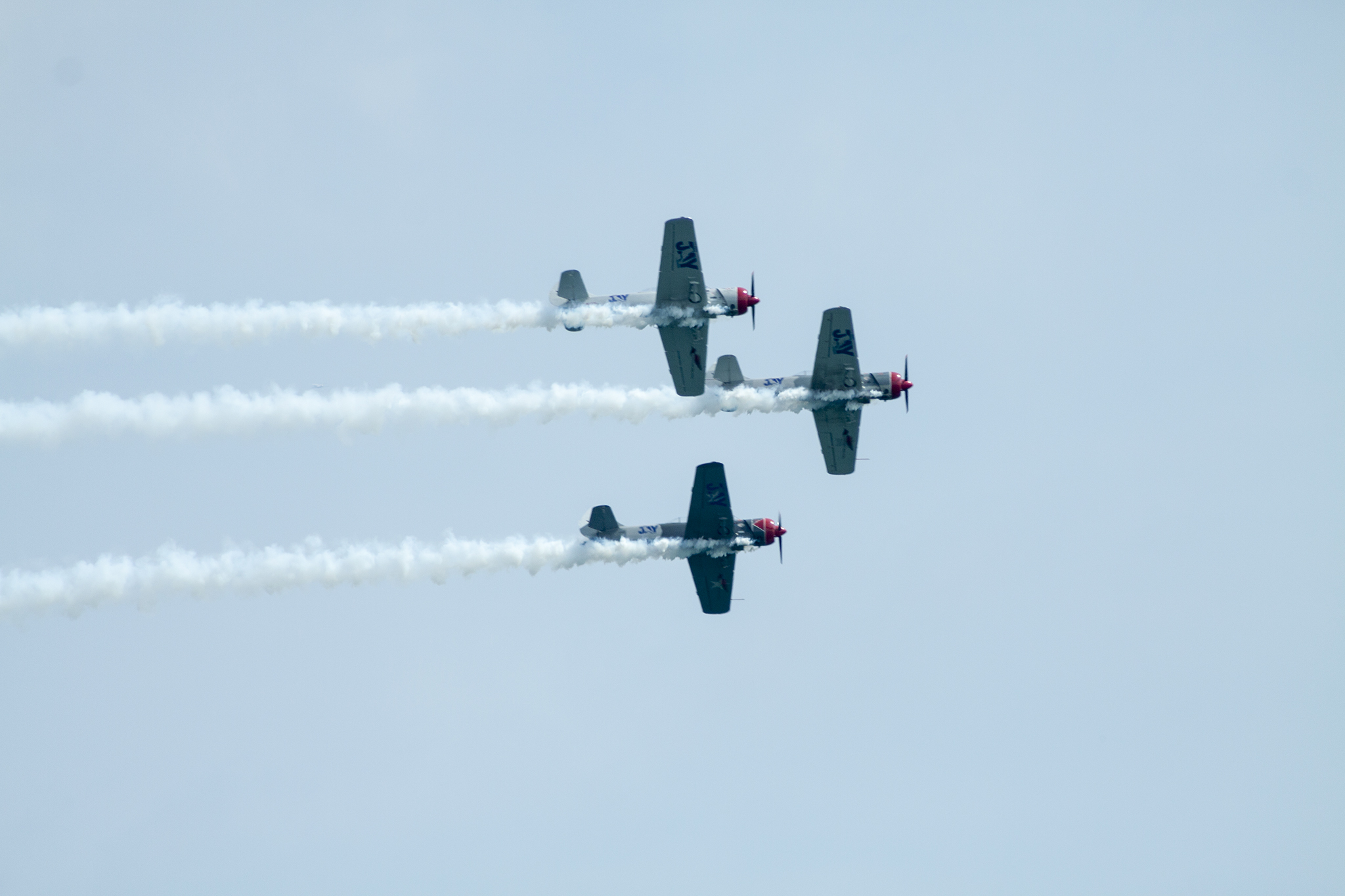 The U.S. Navy Blue Angels, Firebirds Delta Team and more perform aerial stunts at the Chicago Air and Water Show, August 16, 2014.