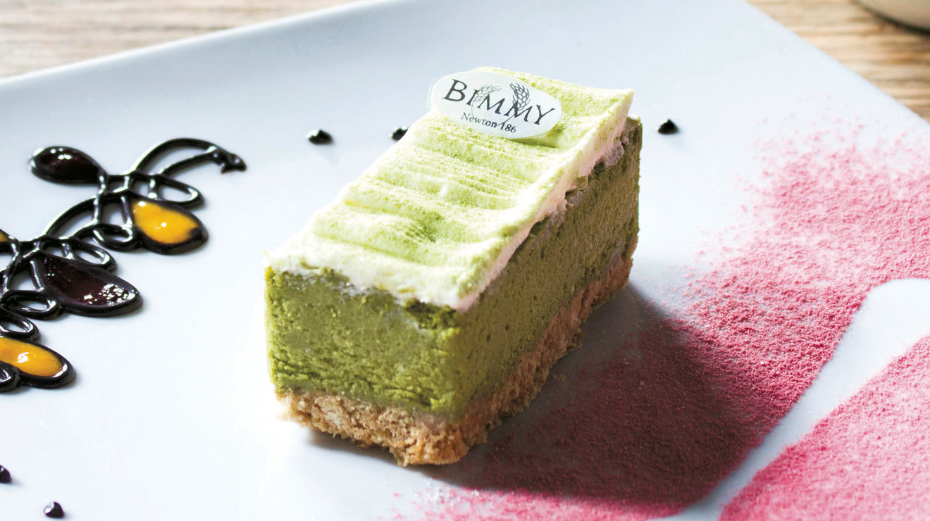 Cheesecake de té verde