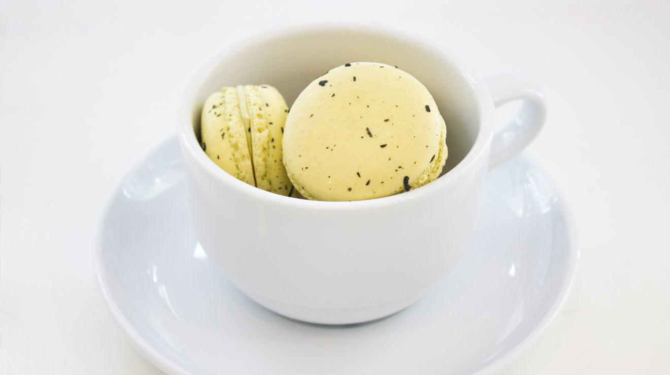 Macarron de té verde
