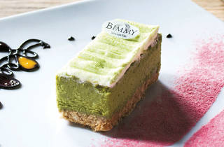 Cheesecake de té verde (Foto: Alejandra Carbajal)