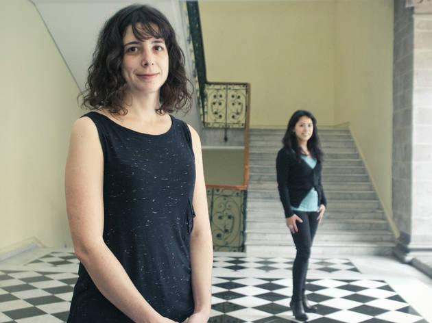 Maria José Sesma y Araceli Rodríguez, coordinadora del programa Jóvenes Creadores