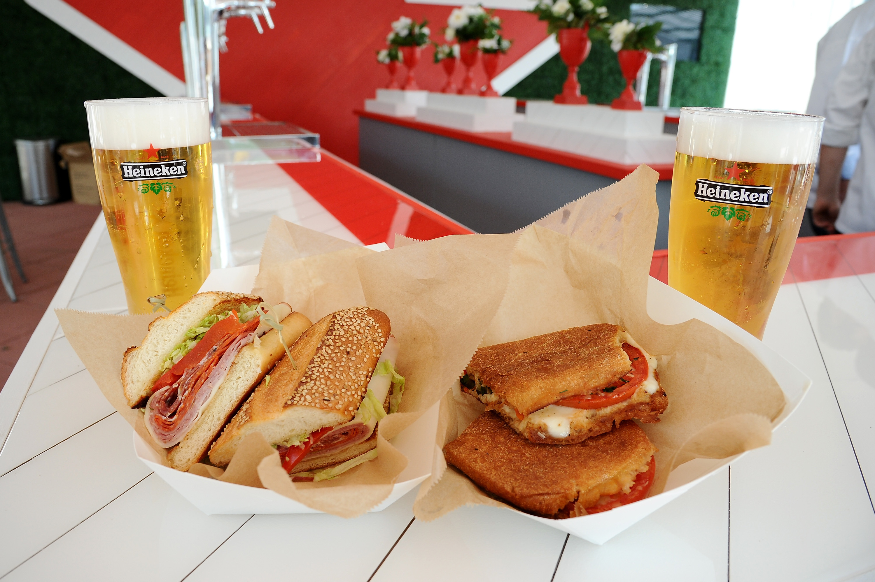 The Zesty Italian Combo and The Godfather sandwiches from Parm at the US Open Heineken House