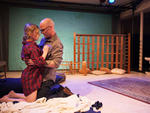Laura Stephenson and Brendan Murphy in The War Zone Is My Bed at Halcyon Theatre