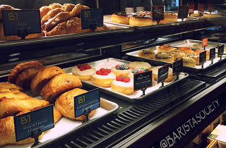 Pastry case at Barista Society.
