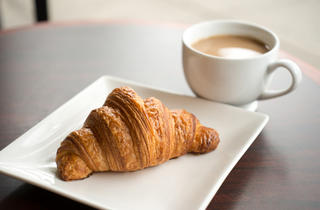 Croissant and Coffee at La Patisserie P.