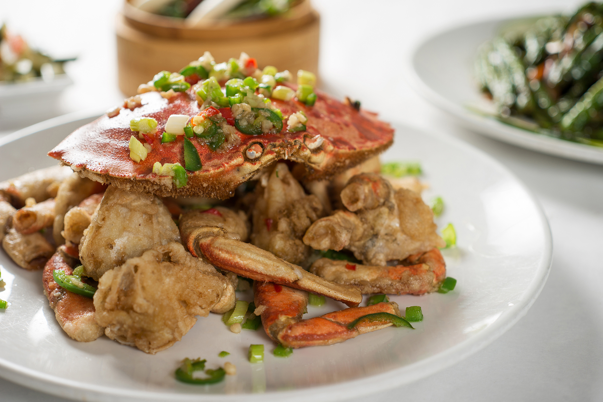 Spicy and salted crab at Silver Seafood