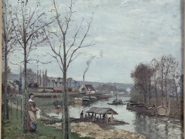 La Seine à Port-Marly, le lavoir, de Camille Pissarro