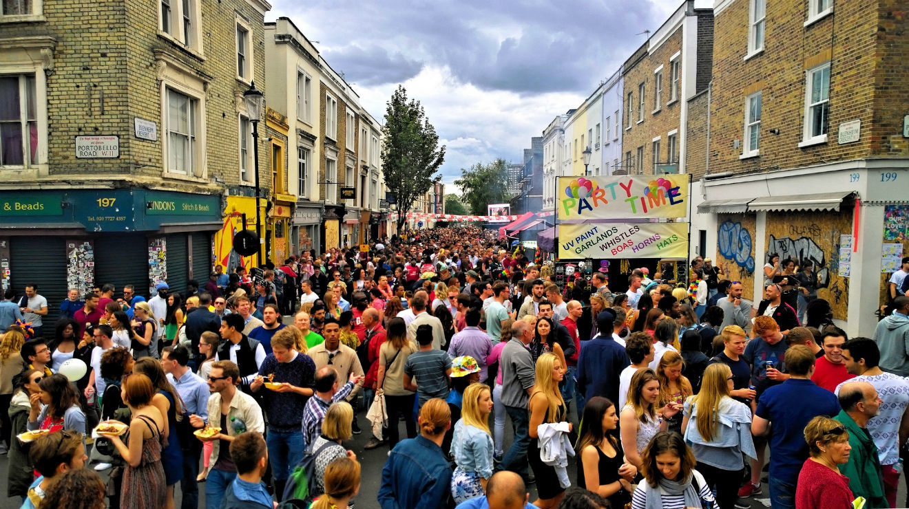 Photo: crowd at Notting Hill Carnival