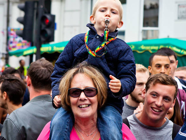 Kids at Notting Hill Carnival