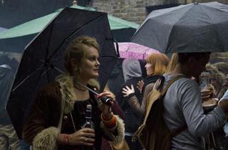 Woman in the rain