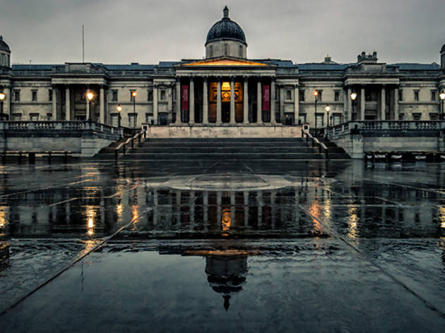 National Gallery in the rain