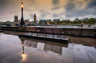 River bank glistening