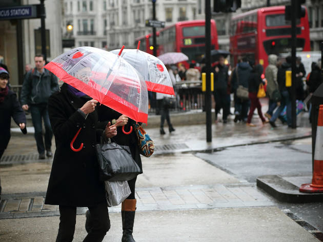I love London, I love rain