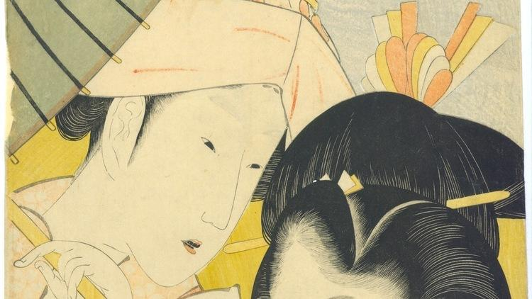 Katsushika Hokusai, 'Longue vue', de la série 'Sept manies des jeunes femmes sans élégance', 1801-1804 / © Galerie Sebastian Izzard LLC