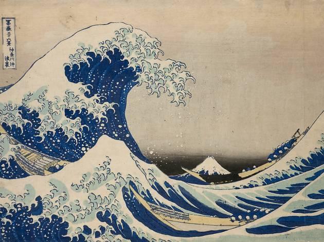(Katsushika Hokusai, 'Dans le creux d'une vague au large de Kanagawa', de la série 'Trente-six vues du mont Fuji', c. 1830-1834 / © © Musées royaux d'Art et d'Histoire, Bruxelles)