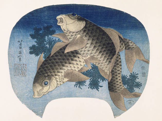 (Katsushika Hokusai, 'Deux carpes', 1831 / © Rmn-Grand Palais (musée Guimet, Paris) / Thierry Ollivier)