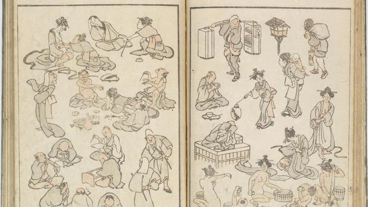 Katsushika Hokusai, croquis, janvier 1814