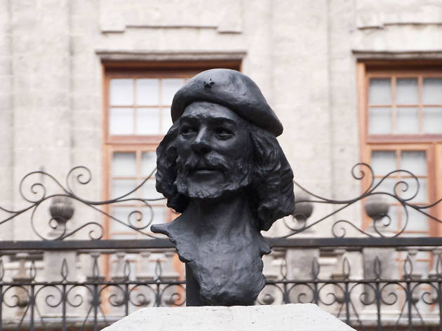 Busto del Ché Guevara en la CDMX