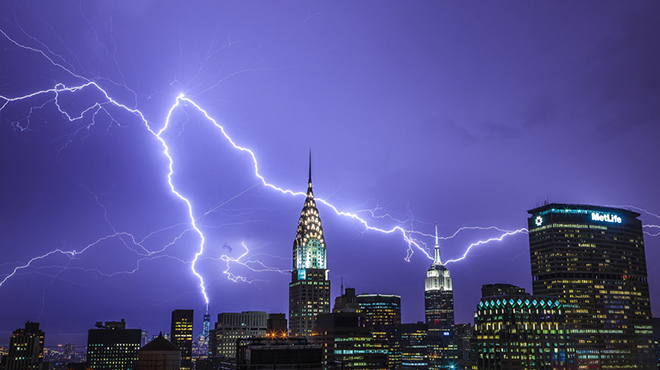 The best pictures from NYC's big storm last night