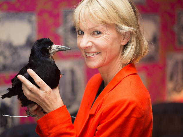 Kate Mosse with a stuffed crow (© Kate C)