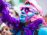 It was an explosion of neon and masks as festivalgoers donned their best costumes  at North Coast Music Festival 2014.