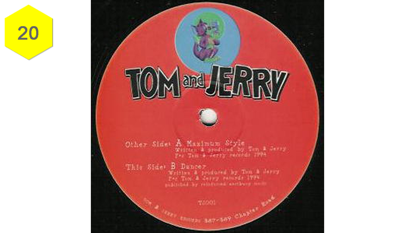 "<h3>&lsquo;Maximum Style' &ndash; Tom &amp; Jerry</h3><div class=""imageAndText"" style=""font-size: 14px; line-height: 22px;"">Coming straight out of Dollis Hill in 1994, 4-Hero had already made their mark on the scene with their Reinforced label and 'Parallel Universe' album both engineering sounds at the most innovative end of the scene. But for good time jungle vibes, it's hard to beat this sweet and soulful number released under their Tom &amp; Jerry moniker. Lifting the flute, searing strings and vocal from Maxi Anderson's 1970s classic 'Lover to Lover', this showed the jungle scene&rsquo;s soundsystem lineage stretching all the way back to the &lsquo;70s and beyond.</div><div class=""imageAndText"" style=""font-size: 14px; line-height: 22px;""><p>&nbsp;</p><p><iframe src=""http://www.youtube.com/embed/OT4Vd0SnfaE"" frameborder=""0"" width=""660"" height=""80""></iframe></p><a class=""button "" style=""background-color: #fc9b18;"" title=""More info"" href=""http://amzn.to/1AXBuRz"" target=""_blank"">Buy this song on Amazon</a>&nbsp;<a class=""button "" style=""background-color: #5a5b4e;"" title=""More info"" href=""https://itunes.apple.com/gb/album/maximum-style/id352404881?i=352406555&amp;uo=4&amp;at=10luqk"" target=""_blank"">Buy this song on iTunes</a></div>"